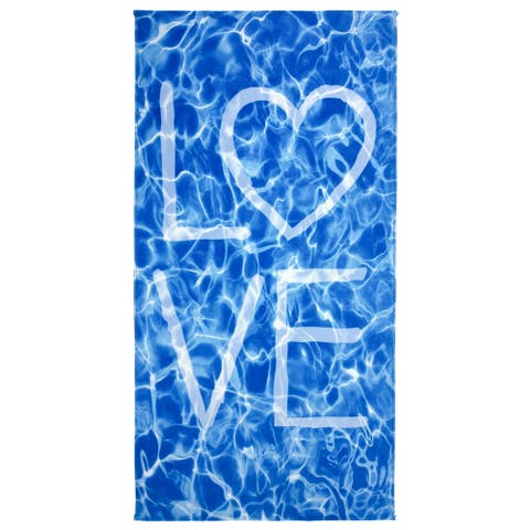 Kaufman LOVE Beach Towels and Pool Towel - 30 x 60