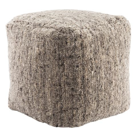 Shaelyn Solid Cube Pouf