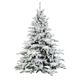 9'H Flocked Lighted Pine Tree