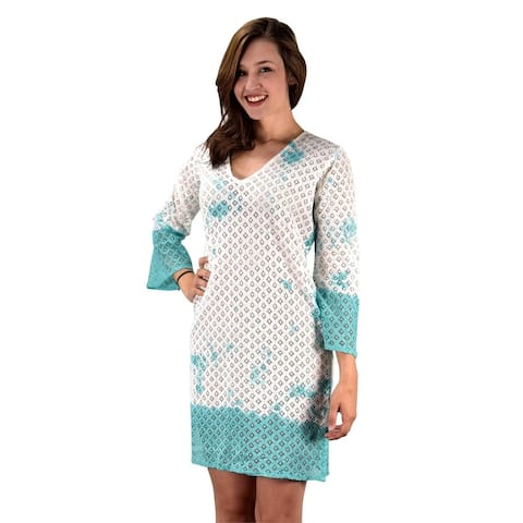 Peach Couture Cotton Crochet Lace Tunic Summer Cover Ups Beach Wear