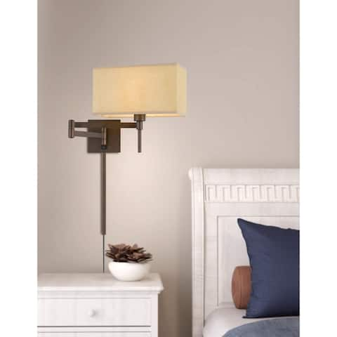 Robson Wall Swing Arm Reading Lamp - Rust