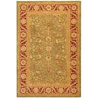 Safavieh Handmade Anatolia Oriental Green/ Red Hand-spun Wool Rug - 9'6 x 13'6