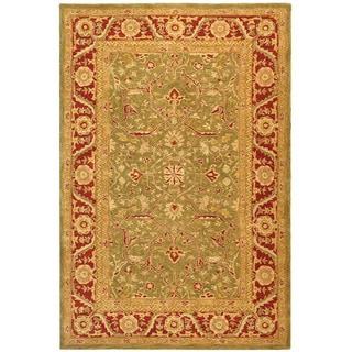 Safavieh Handmade Anatolia Oriental Green/ Red Hand-spun Wool Rug (8' x 10')