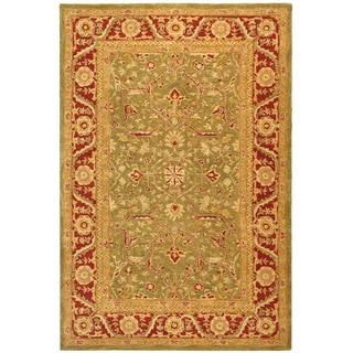 Safavieh Handmade Ancestry Green/ Red Wool Rug (6' x 9')