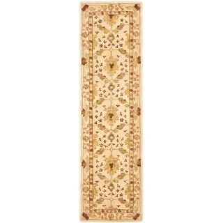 Safavieh Handmade Anatolia Oriental Oushak Ivory Hand-spun Wool Runner (2'3 x 10')