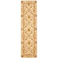 "Safavieh Handmade Anatolia Oriental Oushak Ivory Hand-spun Wool Runner Rug - 2'3"" x 12'"