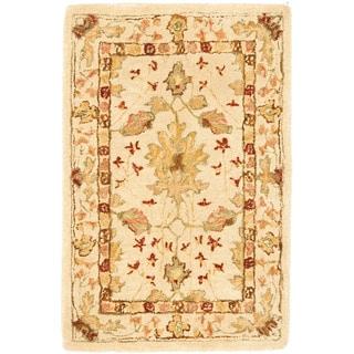 Safavieh Handmade Anatolia Oriental Oushak Ivory Hand-spun Wool Rug (3' x 5')