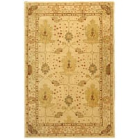 Safavieh Handmade Anatolia Oriental Oushak Ivory Hand-spun Wool Rug - 9'6 x 13'6