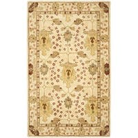 Safavieh Handmade Anatolia Oriental Oushak Ivory Hand-spun Wool Rug - 5' x 8'