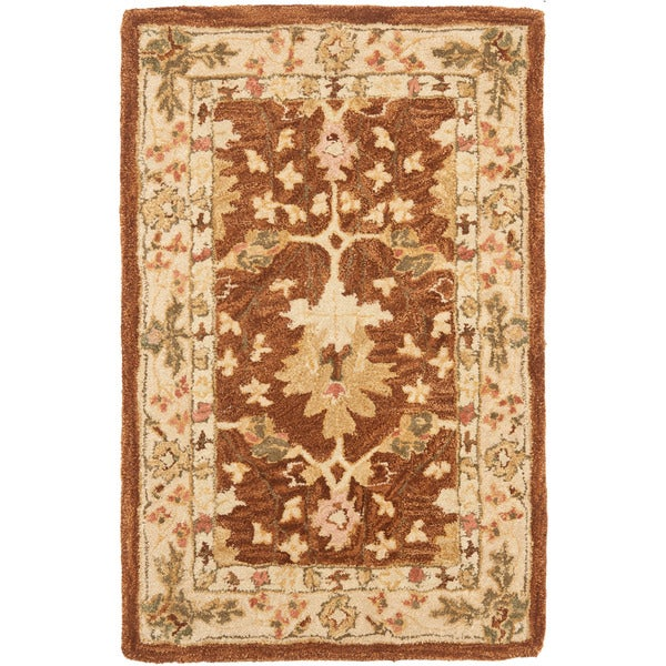 Safavieh Handmade Anatolia Oushak Brown/ Beige Wool Rug (2' x 3')