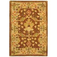 Safavieh Handmade Anatolia Oriental Oushak Brown/ Beige Hand-spun Wool Rug - 2' X 3'