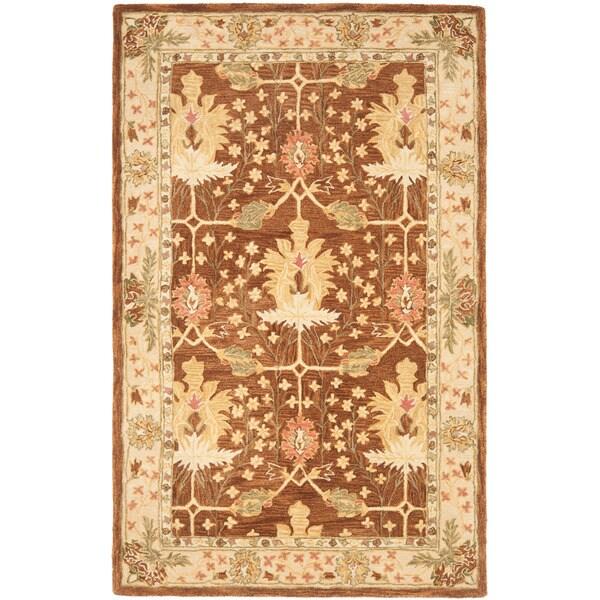 Safavieh Handmade Anatolia Oushak Brown/ Beige Wool Rug (5' x 8')
