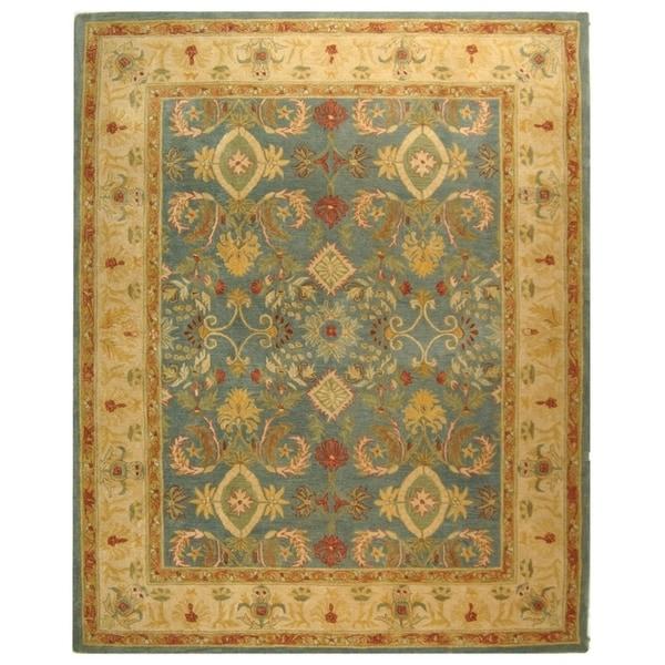Safavieh Handmade Anatolia Oriental Legacy Light Blue Hand-spun Wool Rug - 9' x 12'