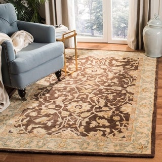 Safavieh Handmade Anatolia Oriental Traditional Brown/ Tan Hand-spun Wool Rug (9'6 x 13'6)