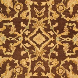 Safavieh Handmade Anatolia Oriental Traditional Brown/ Tan Hand-spun Wool Rug (9' x 12') - Thumbnail 1