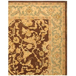 Safavieh Handmade Anatolia Oriental Traditional Brown/ Tan Hand-spun Wool Rug (9' x 12') - Thumbnail 2