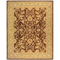 Safavieh Handmade Anatolia Oriental Traditional Brown/ Tan Hand-spun Wool Rug - 9' x 12'