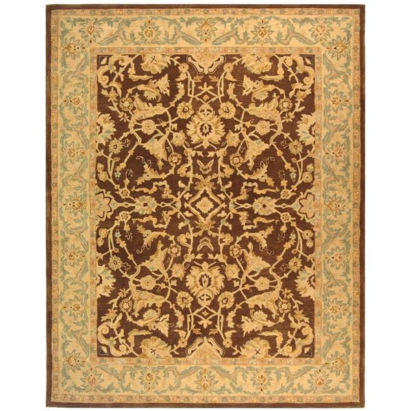 Safavieh Handmade Anatolia Oriental Traditional Brown/ Tan Hand-spun Wool Rug (8' x 10')