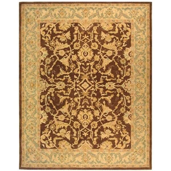 Safavieh Handmade Anatolia Oriental Traditional Brown/ Tan Hand-spun Wool Rug - 8' x 10'