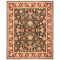 Safavieh Handmade Anatolia Oriental Kashan Charcoal/ Red Hand-spun Wool Rug - 9' x 12'
