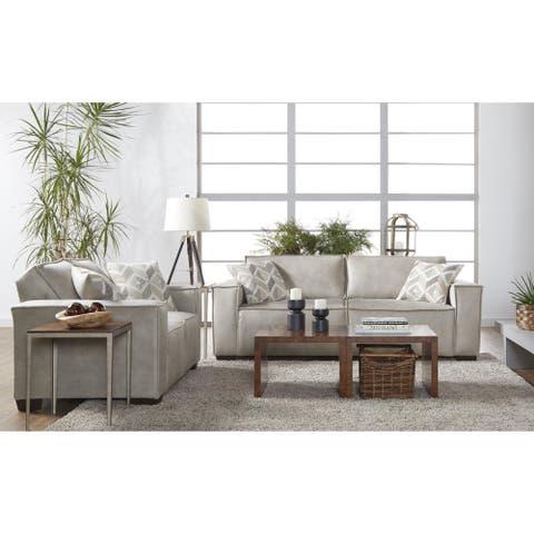 Florina Modern Fabric Sofa and Loveseat in Marvel Khaki