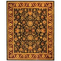 Safavieh Handmade Anatolia Oriental Kashan Charcoal/ Red Hand-spun Wool Rug - 8' x 10'