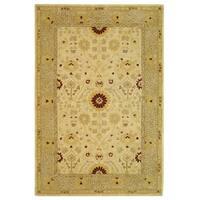Safavieh Handmade Anatolia Oriental Timeless Ivory/ Sand Hand-spun Wool Rug - 6' x 9'