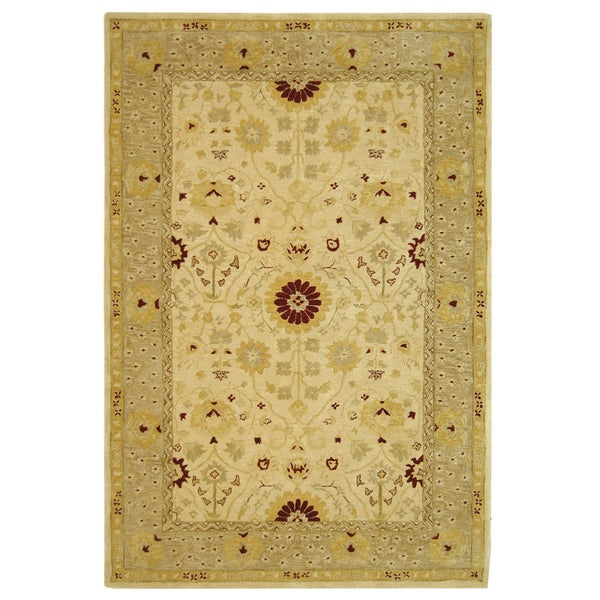 Safavieh Handmade Anatolia Oriental Timeless Ivory/ Sand Hand-spun Wool Rug (6' x 9')
