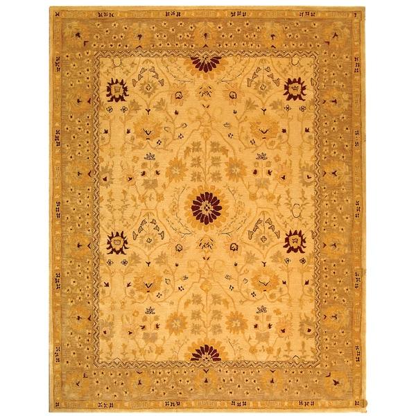 Safavieh Handmade Anatolia Oriental Timeless Ivory/ Sand Hand-spun Wool Rug - 8' x 10'