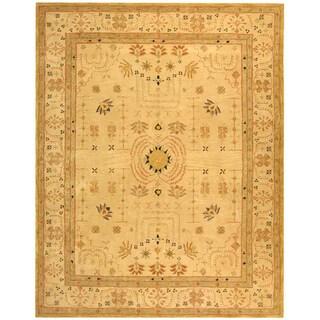 Safavieh Handmade Anatolia Oriental Treasure Sand Hand-spun Wool Rug (9' 6 x 13' 6 )