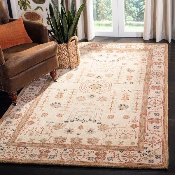 Safavieh Handmade Anatolia Eda Traditional Oriental Hand-spun Wool Rug
