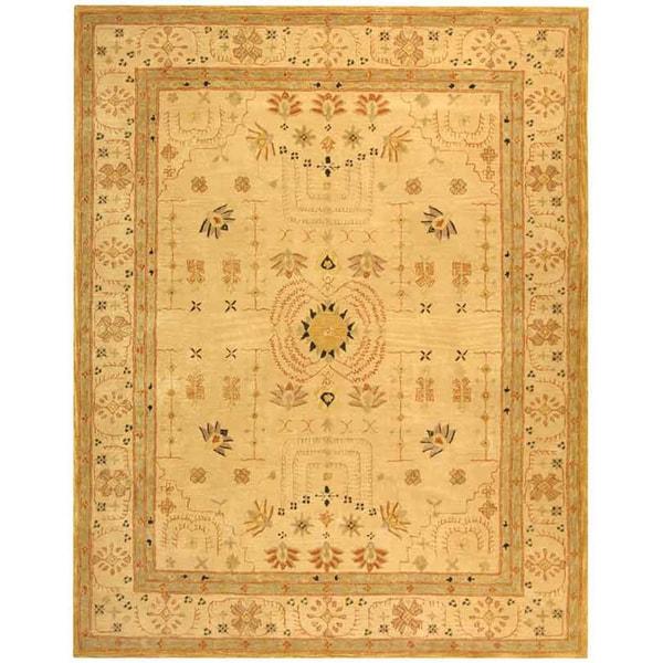 Safavieh Handmade Anatolia Oriental Treasure Sand Hand-spun Wool Rug (8' x 10')