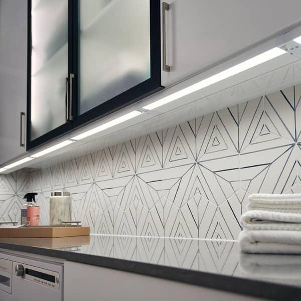 kichler lighting 4u 22 3000k led under cabinet light textured white