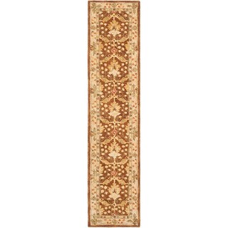 Safavieh Handmade Anatolia Oriental Oushak Brown/ Beige Hand-spun Wool Rug (2'3 x 8')