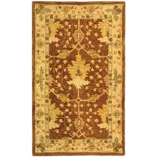 Safavieh Handmade Anatolia Oriental Oushak Brown/ Beige Hand-spun Wool Rug (3' x 5')