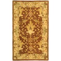 Safavieh Handmade Anatolia Oriental Oushak Brown/ Beige Hand-spun Wool Rug - 3' x 5'