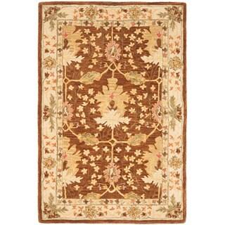 Safavieh Handmade Anatolia Oriental Oushak Brown/ Beige Hand-spun Wool Rug (4' x 6')