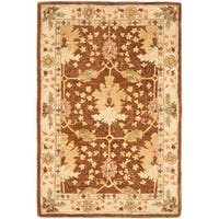 Safavieh Handmade Anatolia Oriental Oushak Brown/ Beige Hand-spun Wool Rug - 4' x 6'