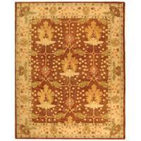 Safavieh Handmade Anatolia Oriental Oushak Brown/ Beige Hand-spun Wool Rug - 9'6 x 13'6