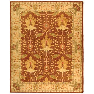 Safavieh Handmade Anatolia Oriental Oushak Brown/ Beige Hand-spun Wool Rug (8' x 10')