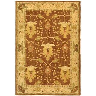 Safavieh Handmade Anatolia Oriental Oushak Brown/ Beige Hand-spun Wool Rug (6' x 9')