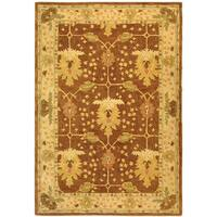 Safavieh Handmade Anatolia Oriental Oushak Brown/ Beige Hand-spun Wool Rug - 6' x 9'