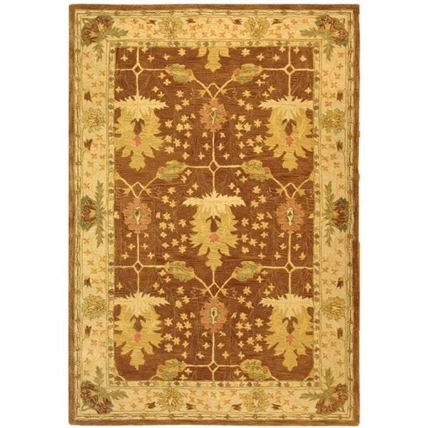 6 X9 Handmade Persian Wool Silk Area Rug Oriental Design: Shop Safavieh Handmade Anatolia Oriental Oushak Brown