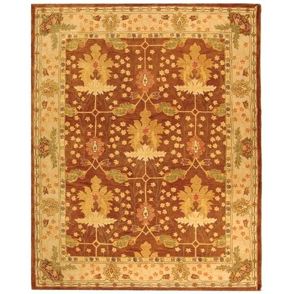 Safavieh Handmade Anatolia Oriental Oushak Brown/ Beige Hand-spun Wool Rug - 9' x 12'