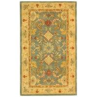 Safavieh Handmade Anatolia Oriental Legacy Light Blue Hand-spun Wool Rug - 3' x 5'