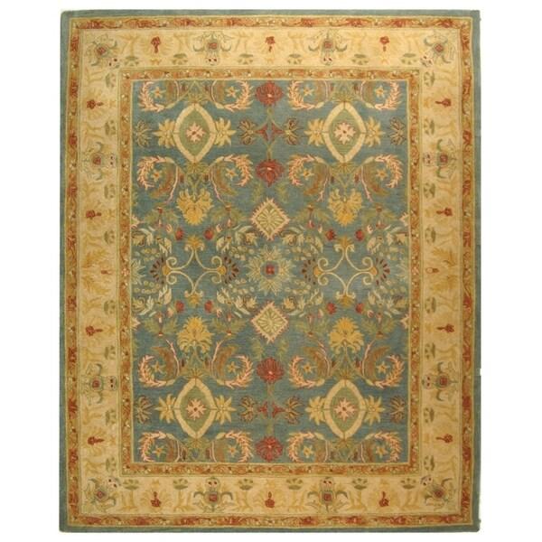 "Safavieh Handmade Anatolia Oriental Legacy Light Blue Hand-spun Wool Rug - 9'6"" x 13'6"""
