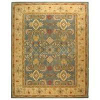 Safavieh Handmade Anatolia Oriental Legacy Light Blue Hand-spun Wool Rug (5' x 8')