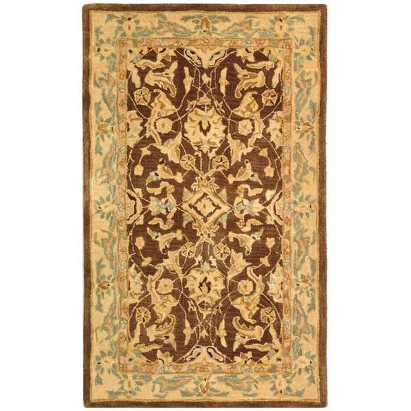 Safavieh Handmade Anatolia Oriental Traditional Brown/ Tan Hand-spun Wool Rug (3' x 5')