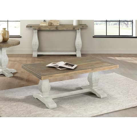 Martin Svensson Home Napa Solid Wood Pedestal Coffee Table