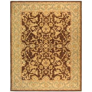 Safavieh Handmade Anatolia Oriental Traditional Brown/ Tan Hand-spun Wool Rug (5' x 8')